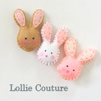 Little Bunny Brooch, felt kids jewelry, felt jewelry, Easter bunny